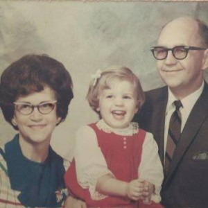 Church photo a week after my adoption: Leone, Karla, Leonard Olson.  September, 1969.